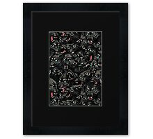 Wolf Pack Pattern Framed Print