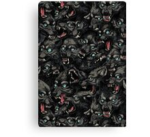 Wolf Pack Pattern Canvas Print