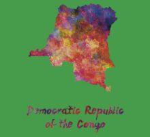 Democratic Republic of the Congo  in watercolor Kids Tee