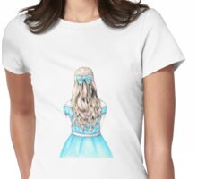 Alice in Wonderland design Womens Fitted T-Shirt