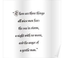 Todo hombre sabio teme tres cosas. . . / There are three things all wise men fear. . . Poster