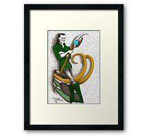 Good to be Bad - Loki (colour version) Framed Print