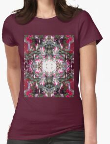 Fuschia 1 Fractal Womens Fitted T-Shirt