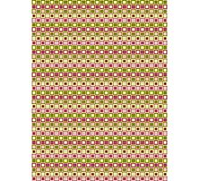 Shades of Pinks & Greens Checkered Pattern Design Photographic Print