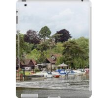 Moored beyond the weir iPad Case/Skin