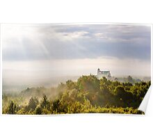 Bobolice Castle in the morning haze Poster