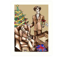 Christmas at 221B Baker Street - Surprise! Art Print