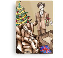 Christmas at 221B Baker Street - Surprise! Metal Print
