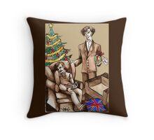 Christmas at 221B Baker Street - Surprise! Throw Pillow