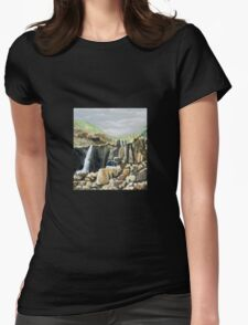Small waterfall when the rain's arrive,  it's a Large waterfall . Womens Fitted T-Shirt