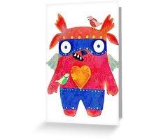 Birdie Monster Greeting Card
