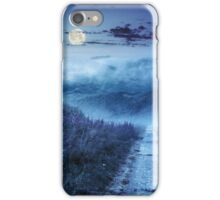 wild flowers on the hillside at night iPhone Case/Skin