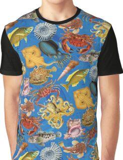 Ocean of sea creatures Graphic T-Shirt