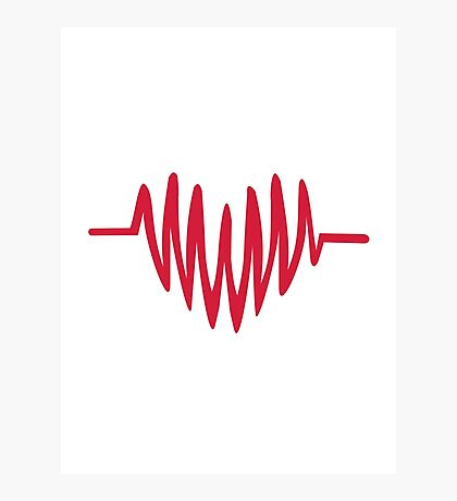 Red frequency heart Photographic Print