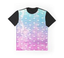 Cute Funny Pastel Ombre Grunge Space Alien Turquoise Purple Galaxy Pattern Graphic T-Shirt