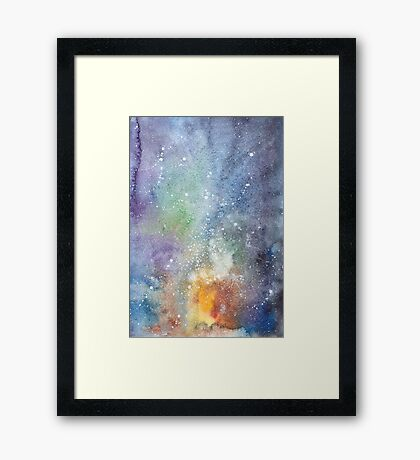 Watercolor texture Framed Print