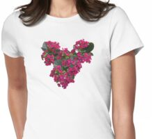 Kalanchoe Heart  Womens Fitted T-Shirt