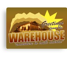 Greetings from the Warehouse Canvas Print