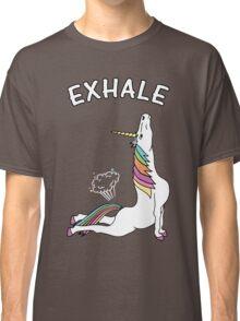 Yoga Unicorn - 'EXHALE' Cobra Pose Classic T-Shirt