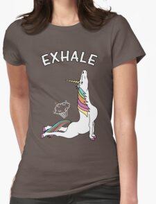 Yoga Unicorn - 'EXHALE' Cobra Pose Womens Fitted T-Shirt