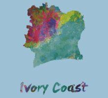 Ivory Coast in watercolor Baby Tee