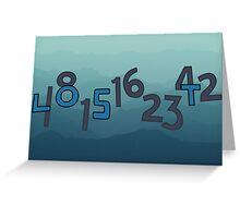 Numbers Greeting Card