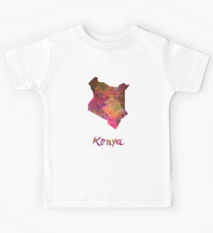 Kenya in watercolor Kids Tee