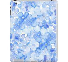 Purple blue hand drawn watercolor hortensia floral iPad Case/Skin