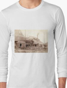 Deadwood and Delaware Smelter at Deadwood - John Grabill - 1890 Long Sleeve T-Shirt