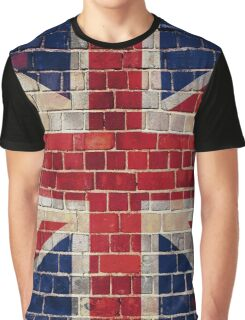 UK flag on a brick wall Graphic T-Shirt