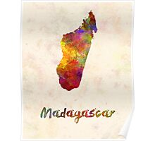 Madagascar in watercolor Poster