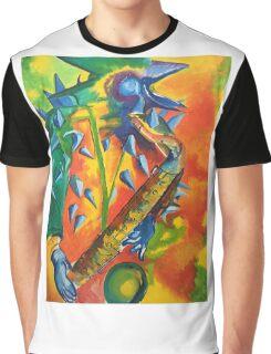 Quark at the moon Nik Turner Graphic T-Shirt