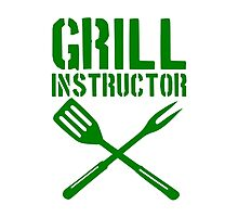 Grill BBQ Instructor Photographic Print