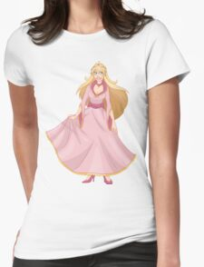 Blond Princess In Pink Yellow Dress Womens Fitted T-Shirt
