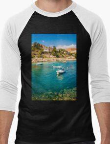 Boats at Cala del Morro Blanc Men's Baseball ¾ T-Shirt