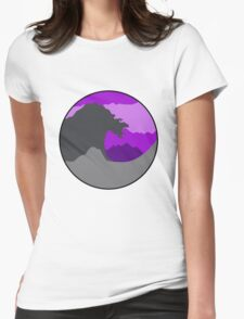 The Great Wave - Purple Womens Fitted T-Shirt