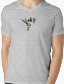 Dapper Hummingbird Mens V-Neck T-Shirt