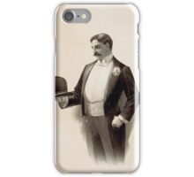 Performing Arts Posters Man wearing tuxedo holding bowler hat 1564 iPhone Case/Skin