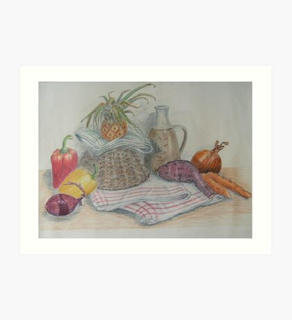 Still Life with Baby Pineapple Art Print