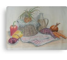 Still Life with Baby Pineapple Canvas Print