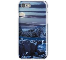 composite island with hills and castle at night iPhone Case/Skin