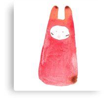 Red Rabbit Girl Canvas Print