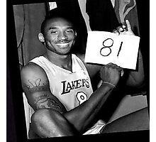 Kobe Bryant - 81 points Photographic Print