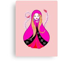 Matryoshka with Feathers Canvas Print