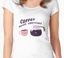 Coffee Solves Everything Women's Fitted Scoop T-Shirt