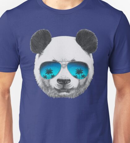 Panda with sunglasses Unisex T-Shirt