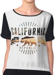 California Skyline Chiffon Top
