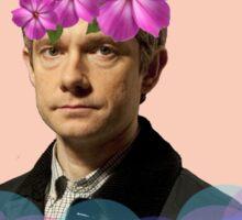 John Watson Pastel Flower Crown Sticker