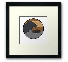 The Great Wave - Brown Framed Print