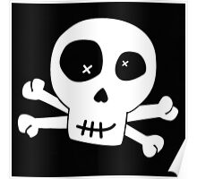 skulls eye patch pirate Poster
